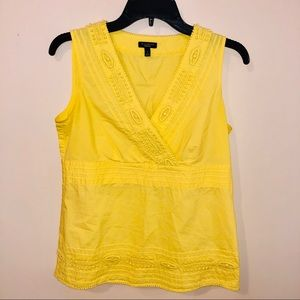 TALBOTS vneck yellow blouse